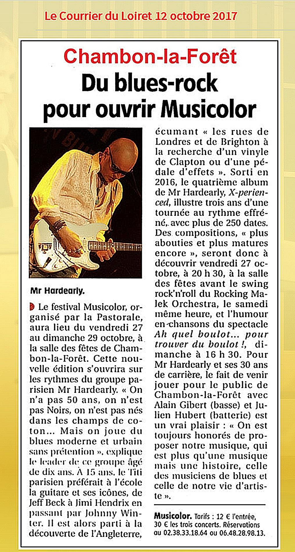 Le courrier du Loiret 12 Octobre 2017