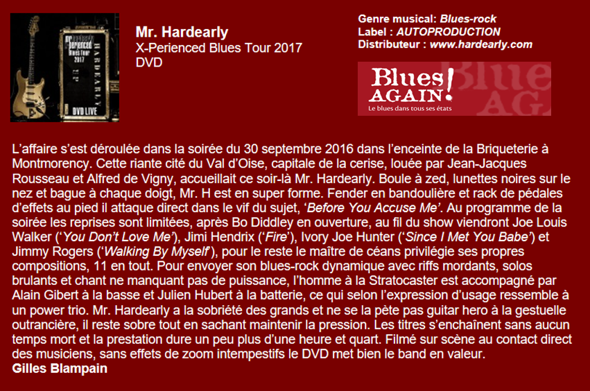 DVD Chronique Blues Again 2017
